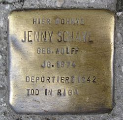 Photo of Jenny Schaye brass plaque