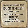 Stolperstein für Ida De Benedetti (Alessandria).jpg