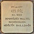 Stolperstein für Pal Kis (Budapest).jpg