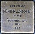 Stolpersteine Höxter, Günter J. Simson (Westerbachstraße 12).jpg