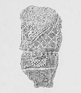 Stone rubbing of anthropomorphic stele no 18, Sion, Petit-Chasseur- necropolis 11