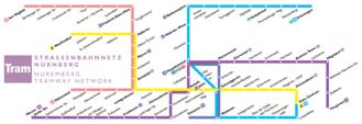 Trams in Nuremberg - line network
