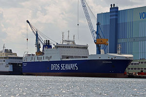 DFDS Seaways - Ark Germania seen at the shipyard now serves on the Esbjerg route