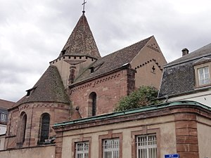 Saint Stephen's Church, Strasbourg - Romanesque transept, crossing and apse of Saint Stephen's Church