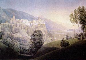 Matthäus Loder: Erzherzog Johann und Anna Plochl – Spaziergang bei Burg Strechau