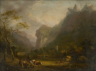 Mountain Valley with a Figural Group in the Foreground