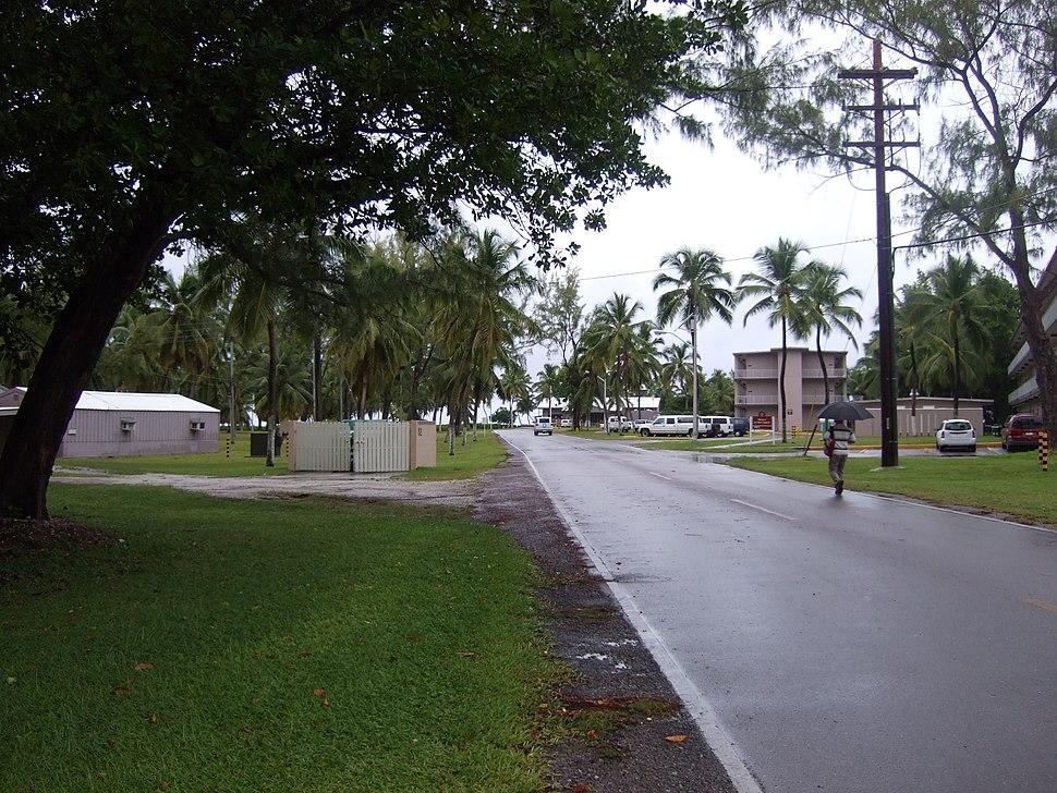 Street in Diego Garcia