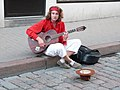 Street musician in Tallinn old town.JPG