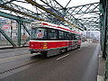 Streetcars on the Queen Street bridge over the Don River, 2014 12 03 (3) (15756335768).jpg