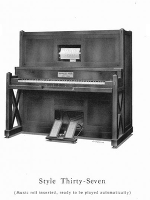 """Krakauer Brothers - Piano """"Style Thirty-Seven"""" with automatic music roll"""