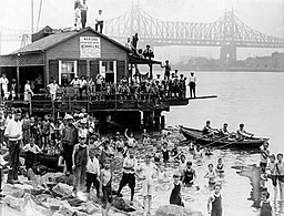 Summertime on the East River, 1921