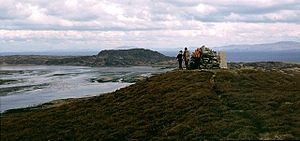 Oronsay, Inner Hebrides - Image: Summit of Beinn Oronsay geograph.org.uk 306638