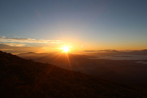 Sunrise from Mount Ontake