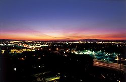 Sunset over Lancaster, California