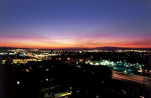 Lancaster, California - Sunset over Lancaster, California