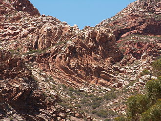 Cape Fold Belt - Folded rock formations of the Swartberg