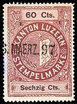 Switzerland Lucerne 1897 revenue 6 60c - 57 - E 1 97.jpg