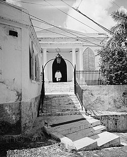 Synagogue of Beracha Veshalom Vegemiluth Hasidim, Krystalgade 16A & B, Charlotte Amalie (St. Thomas County, Virgin Islands).jpg