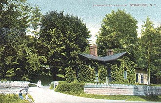 Syracuse State School - Syracuse Idiot Asylum on Wilbur Avenue in Syracuse, New York in 1910 - Caretaker's house