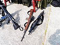 T57 Sniper Rifle and T91 Rifles on Ground 20120211.jpg
