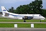 TAG Airlines - Transportes Aéreos Guatemaltecos Saab 340A TG-TAW at San Pedro Sula La Mesa.jpg