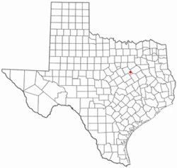 Location of Malone, Texas