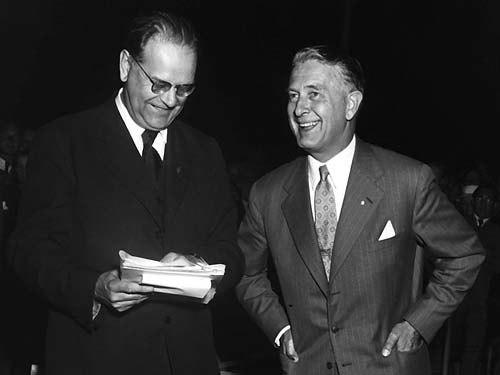 Tage Erlander & Bertil Ohlin 1954