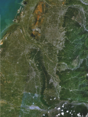 Taichung Basin - Satellite picture of Taichung Basin.