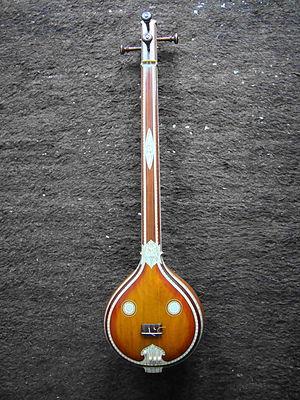 Tanjore-style Carnatic tambura.JPG