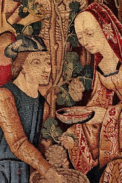 Tapestries in the Musée national du Moyen Age - Man and Woman.jpg