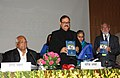 Tariq Anwar releasing a book at the 84th Annual General Meeting of ICAR, in New Delhi on February 18, 2013. The Union Minister for Agriculture and Food Processing Industries, Shri Sharad Pawar is also seen.jpg