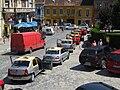 Taxi cars in Sighişoara.JPG