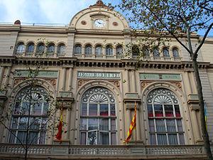 Conservatori Superior de Música del Liceu - Facade of the Gran Teatre del Liceu