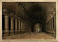 Temple interior with a Buddhist stupa on the island of Salse Wellcome V0050492.jpg
