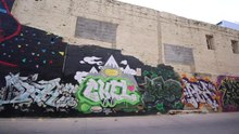File:Temporary graffiti on U St..ogv