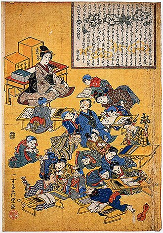 Education in Japan - Terakoya for girls in the Edo period