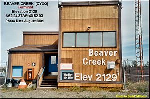 Beaver Creek Airport - Image: Terminal, Beaver Creek airport, Yukon 2