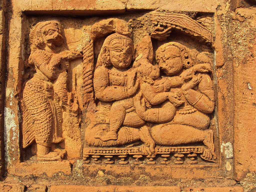 Terracotta work on Jor Bangla temple, Bishnupur.JPG