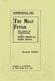 <i>The Meat Fetish</i> 1904 essay on vegetarianism and animal rights