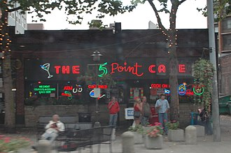 The 5 Point Cafe - The 5 Point on a rainy Seattle day