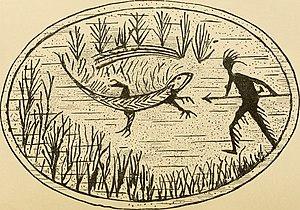 Passamaquoddy - A Passamaquoddy story carved into birchbark.