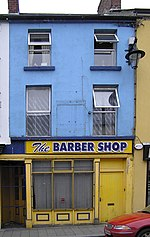 The BARBER SHOP, Omagh. These premises are located in John Street