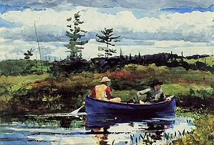 Watercolor painting - Winslow Homer, The Blue Boat, 1892