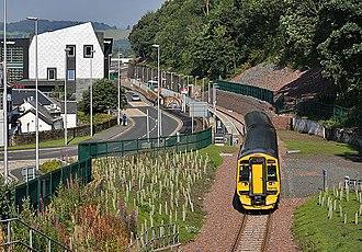 Borders Railway - Class 158 at Galashiels, August 2015