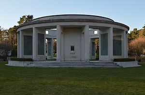 Brookwood Cemetery - The Brookwood Memorial, built in 1958 and designed by Ralph Hobday
