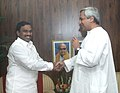 The Chief Minister of Orissa, Shri Navin Patnaik calls on the Union Minister for Environment & Forests, Shri A. Raja, in New Delhi on July 12, 2006.jpg