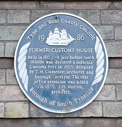 The customs house, south shields   blue plaque