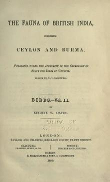 The Fauna of British India, including Ceylon and Burma (Birds Vol 2).djvu