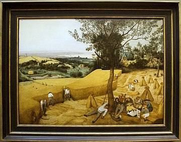 The Harvesters, painting by Brugel, with frame.jpg