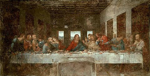 The Last Supper (1498)—Convent of Sta. Maria delle Grazie, Milan, Italy
